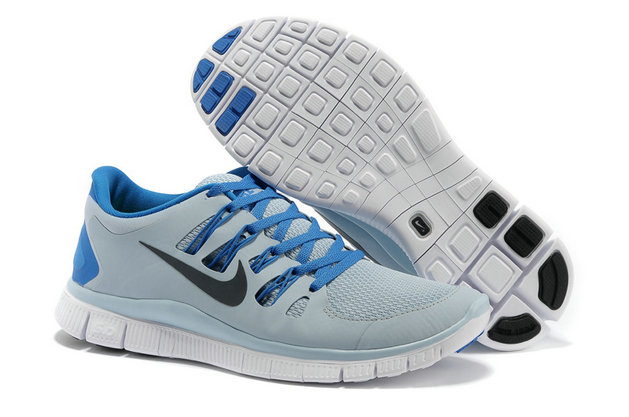 Nike Free 5.0 Mens Gray Blue Training Shoes On VaporMaxRunning