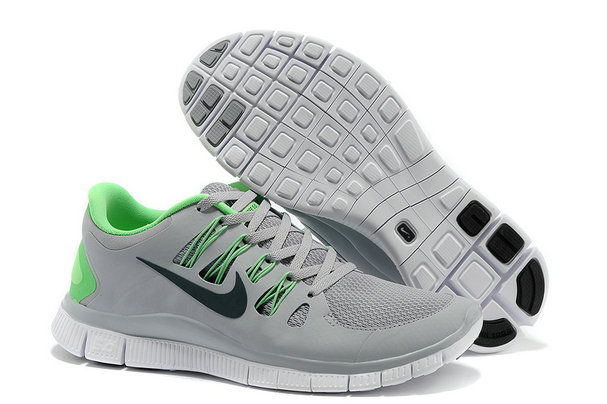 Nike Free 5.0 Mens Gray Fluorescence Green Training Shoes On VaporMaxRunning