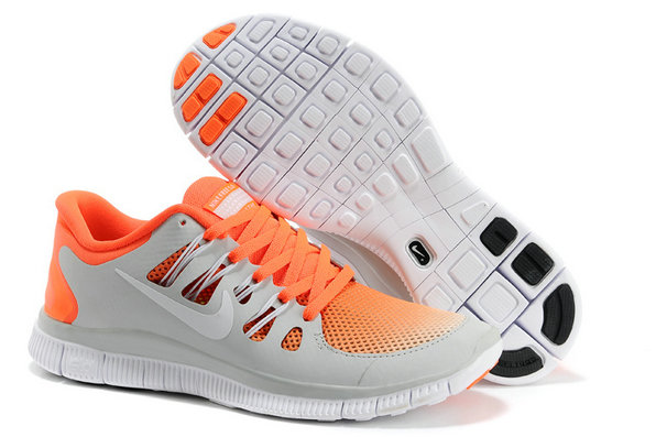 Nike Free 5.0 Mens Light Gray Orange Training Shoes On VaporMaxRunning