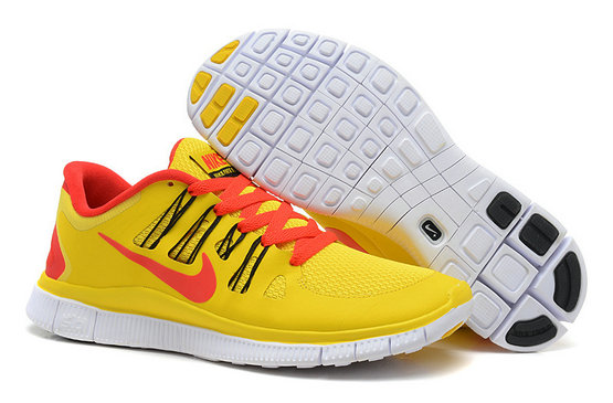 Nike Free 5.0 Mens Yellow Red Training Shoes On VaporMaxRunning
