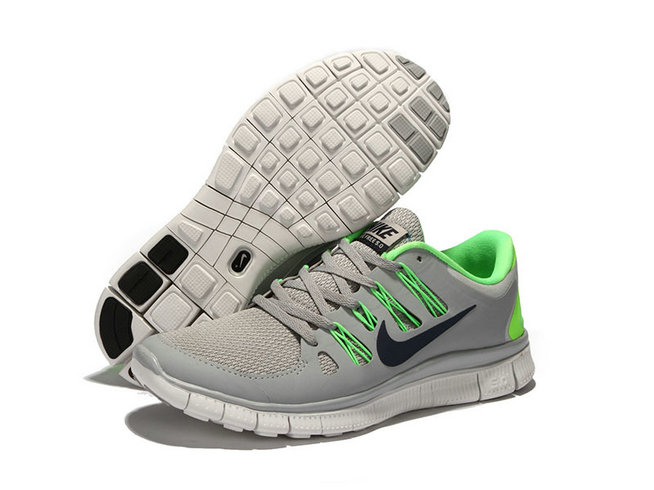 Nike Free 5.0 V2 Men Light Grey Black Green On VaporMaxRunning