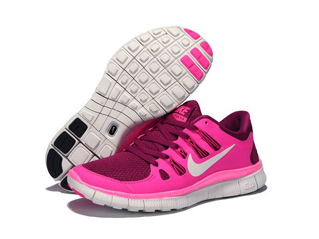 Nike Free 5.0 V2 Rose Red Pink White On VaporMaxRunning