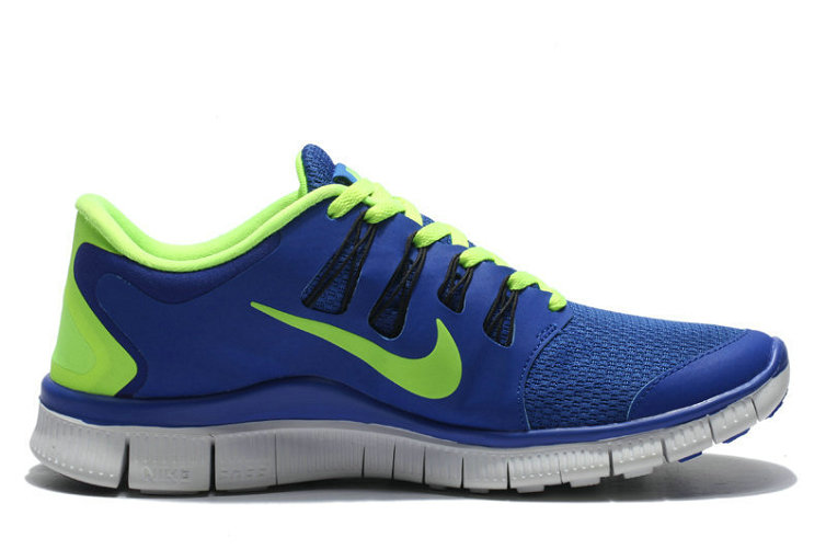 Nike Free 5.0 V2 Women Royal Blue Green On VaporMaxRunning