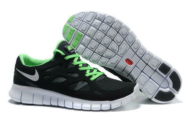 Nike Free Run 2 Mens Running Shoe Black Green On VaporMaxRunning