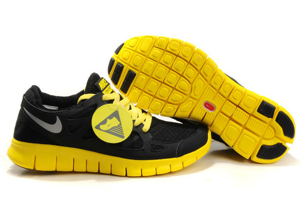 Nike Free Run 2 Mens Running Shoe Black Yellow On VaporMaxRunning