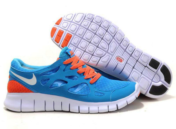 Nike Free Run 2 Mens Running Shoe Dark Blue Orange On VaporMaxRunning