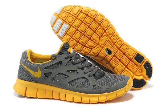 Nike Free Run 2 Mens Running Shoe Gray Yellow On VaporMaxRunning