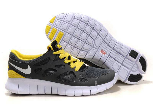 Nike Free Run 2 Mens Running Shoe Gray Yellow White On VaporMaxRunning