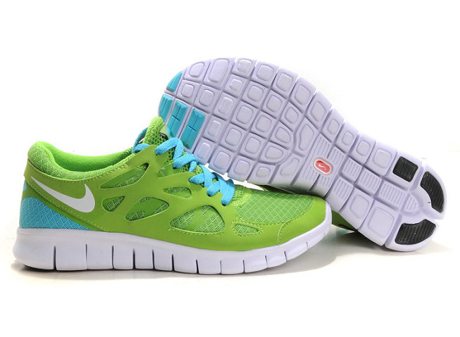 Nike Free Run 2 Mens Running Shoe Green Blue On VaporMaxRunning