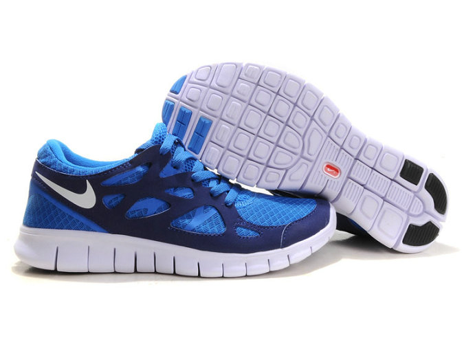Nike Free Run 2 Mens Running Shoe Royalblue White On VaporMaxRunning