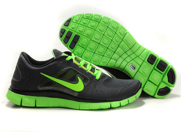 Nike Free Run 3 Mens Running Shoes Black Fluorescence Green On VaporMaxRunning