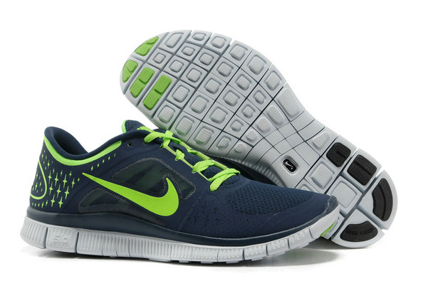 Nike Free Run 3 Mens Running Shoes Dark Blue Green On VaporMaxRunning