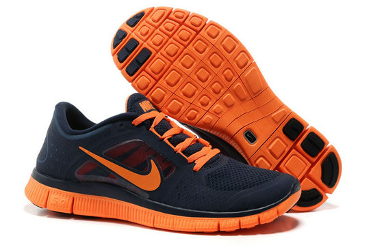 Nike Free Run 3 Mens Running Shoes Dark Blue Orange On VaporMaxRunning