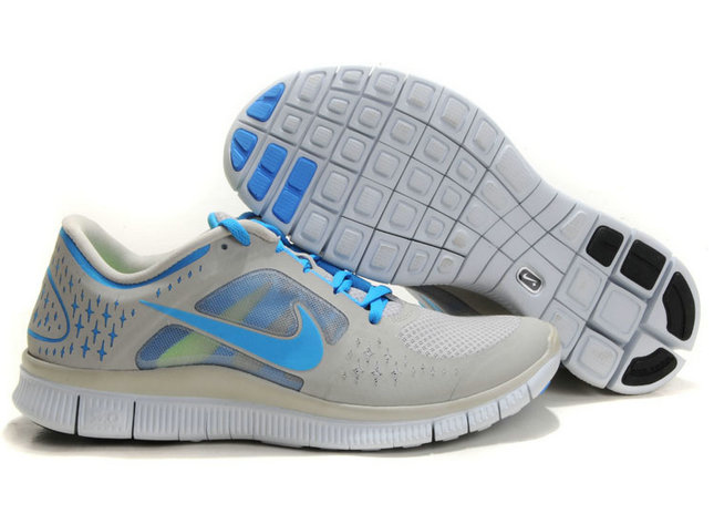 Nike Free Run 3 Mens Running Shoes Light Gray Blue On VaporMaxRunning