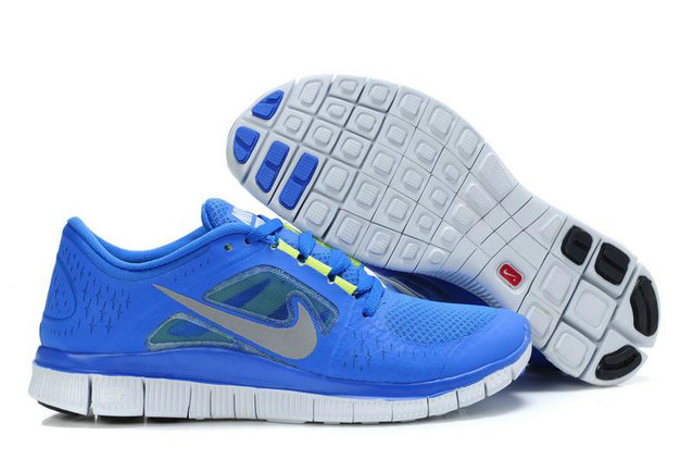 Nike Free Run 3 Mens Running Shoes RoyalBlue White On VaporMaxRunning