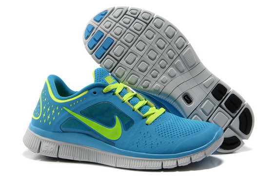 Nike Free Run 3 Womens Running Shoes Blue Green On VaporMaxRunning
