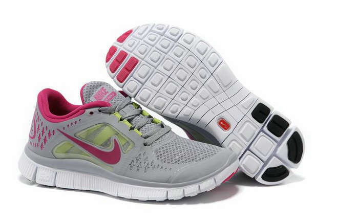 Nike Free Run 3 Womens Running Shoes Gray Fuchsia On VaporMaxRunning