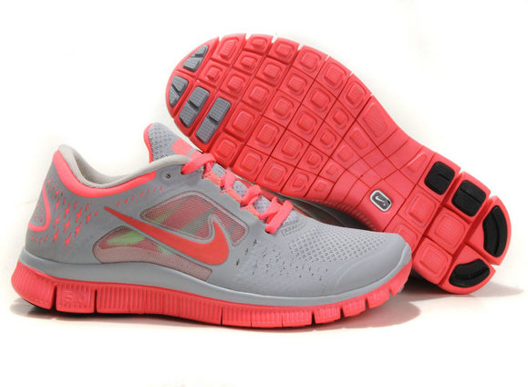 Nike Free Run 3 Womens Running Shoes Gray Pink On VaporMaxRunning
