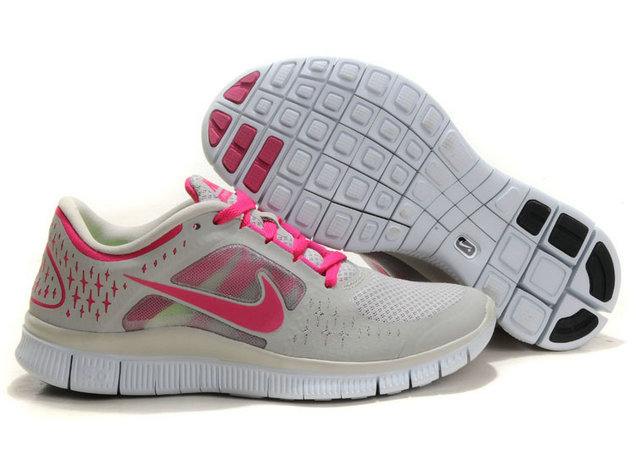 Nike Free Run 3 Womens Running Shoes Light Gray Pink On VaporMaxRunning