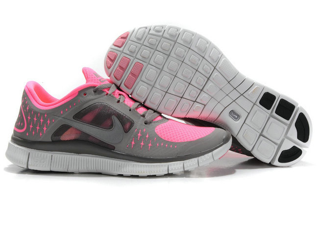 Nike Free Run 3 Womens Running Shoes Pink Gray On VaporMaxRunning
