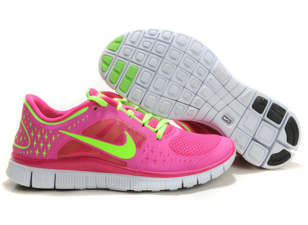 Nike Free Run 3 Womens Running Shoes Pink Green On VaporMaxRunning