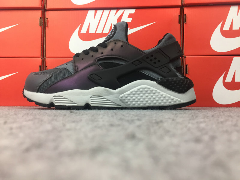 8972d527a341 Nike Huarache Cheap Nike Air Huarache Run Premium 704830-007 Black Purple  White On VaporMaxRunning