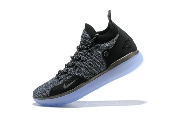 Cheap Nike KD 11 EP Oreo Black Grey Kevin Durants Signature Basketball Shoes AO2605-004 On VaporMaxRunning