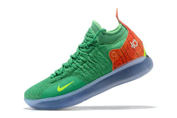 Cheap Nike KD 11 Green Orange-Yellow Mens Basketball Shoes For Sale On VaporMaxRunning