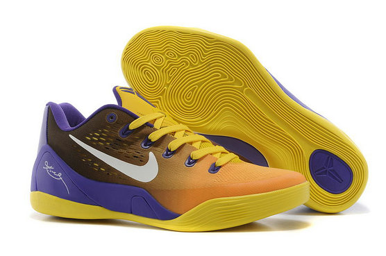 Nike Kobe 9 EM Lakers Gradient Purple Yellow On VaporMaxRunning
