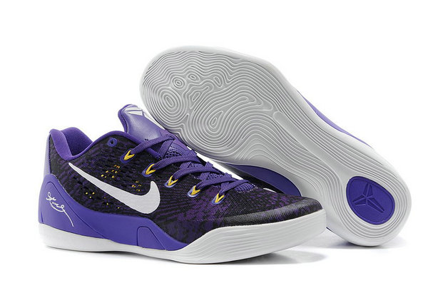 Nike Kobe 9 Low EM Women Custom Purple Black White On VaporMaxRunning