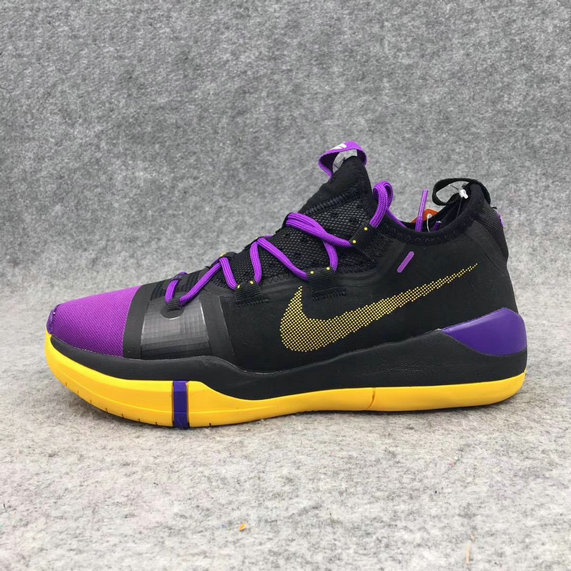 Cheap Nike Kobe AD Black Purple Yellow On VaporMaxRunning