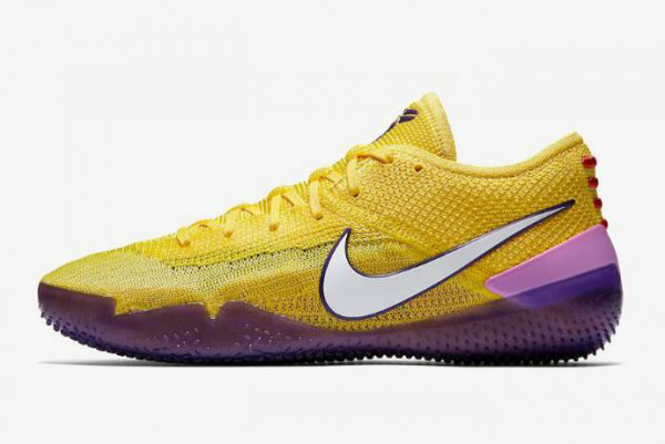 Cheap Nike Kobe AD NXT 360 Lakers Yellow Strike White AQ1087-700 On VaporMaxRunning