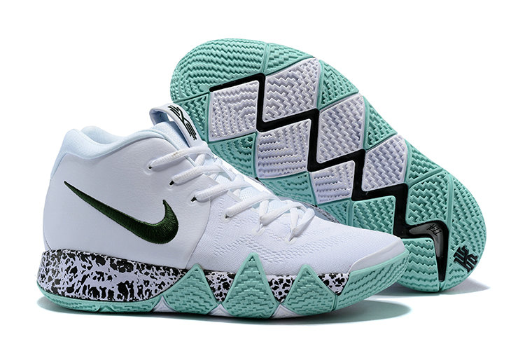 2c56821d83f7 2018 New Kyrie Shoes Cheap Nike Kyrie Irvings 4 IV Colorways White Black  Peppermint Green On