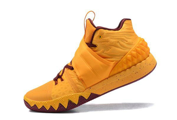 Cheap Nike Kyrie S1 Hybrid Cavs Yellow Wine Red Basketball Shoes On VaporMaxRunning