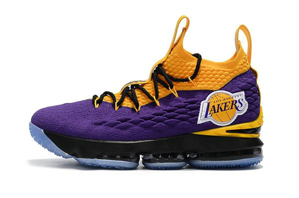 Cheap Nike LeBron 15 Lakers Purple Yellow Black Basketball Shoes For Sale On VaporMaxRunning