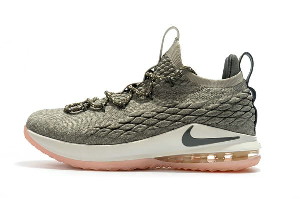 Cheap Nike LeBron 15 Low Dark Stucco Light Bone Dark Stucco-Sail AO1755-003 On VaporMaxRunning