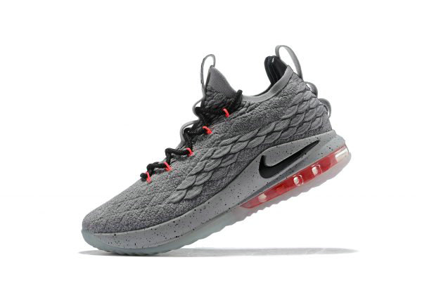 Cheap Nike LeBron 15 Low Flight Pack Cool Grey Black-Teal Tint-Sunset Pulse AO1755-005 On VaporMaxRunning