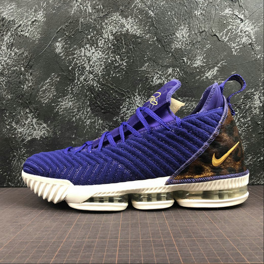 Nike LeBron James XVI EP AO2588-500 Court Purple Metallic Gold Violet On VaporMaxRunning