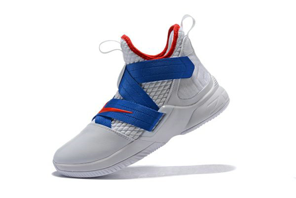 Cheap Nike LeBron Soldier 12 White Blue-Red Mens Basketball Shoes On VaporMaxRunning