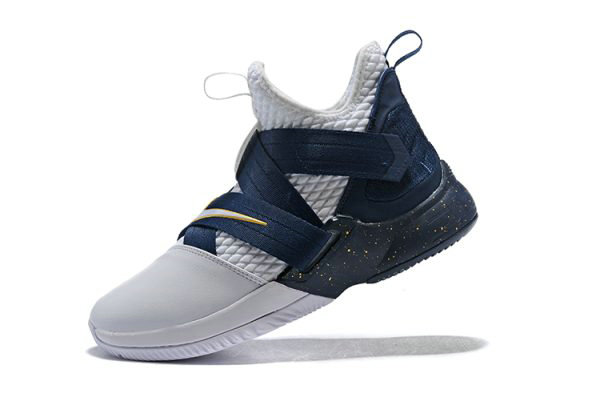 9aa4dd92c88 Cheap Nike LeBron Soldier 12 XII SFG White Midnight Navy-Mineral Yellow  Basketball Shoes On