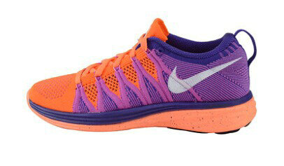 Nike Lunar 2+ Flyknit Women Orange Purple On VaporMaxRunning