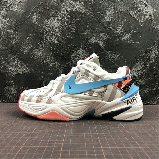Cheap Nike M2K Tekno x Off White x PARRA AO3108-680 Phantom Oil Grey Matte Silver Fantome Gris Petrole On VaporMaxRunning