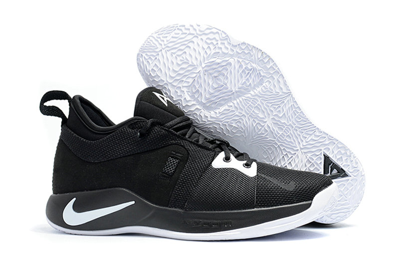 2018 New PG Shoes Cheap Nike PG2 Colorways Basketball Shoes Black White On VaporMaxRunning