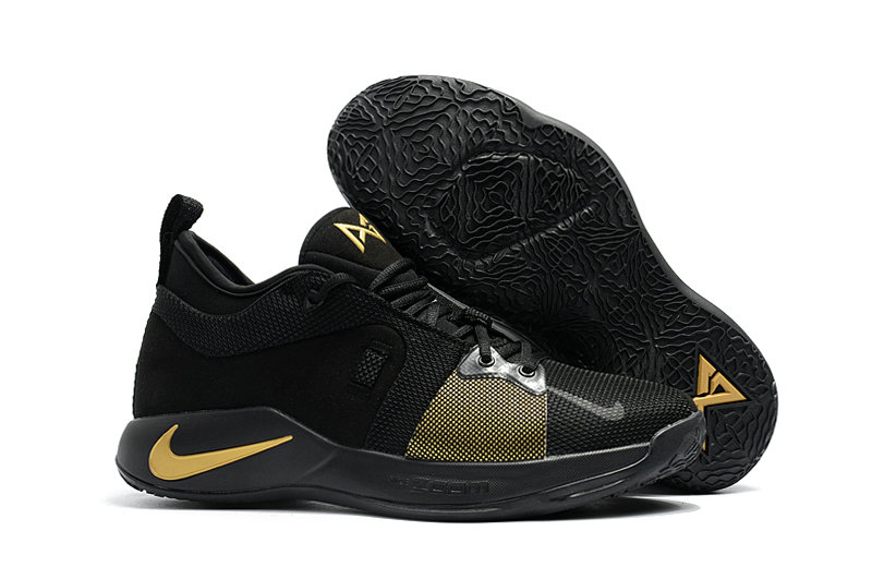 2018 New PG Shoes Cheap Nike PG2 Colorways Basketball Shoes Gold Black On VaporMaxRunning