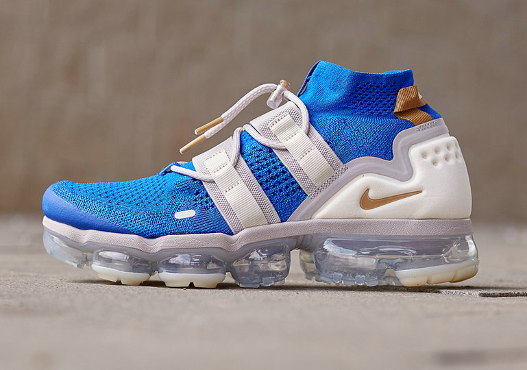 Cheap Nike VaporMax Utility AH6834-402 Racer Blue Muted Bronze-Moon Particle-Light Cream-Deep Royal Blue On VaporMaxRunning