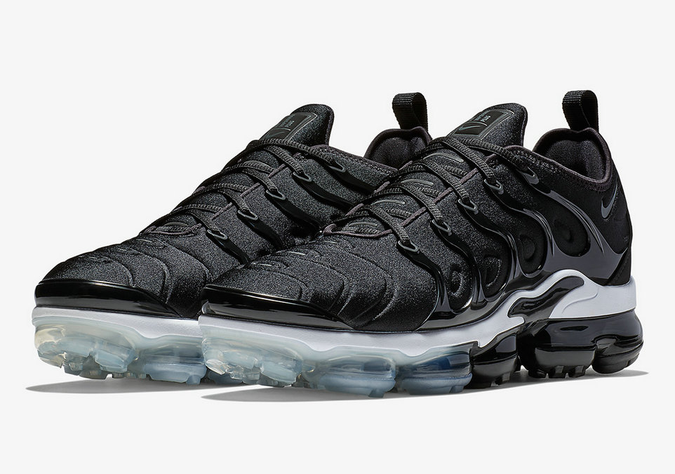 Nike Vapormax Plus In A Simple Black White Colorway On VaporMaxRunning