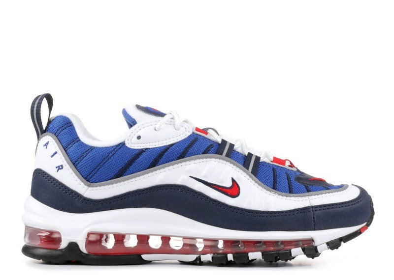 Cheap Nike Wmns Air Max 98 Og Gundam Ah6799-100 White University Red Obsidian On VaporMaxRunning