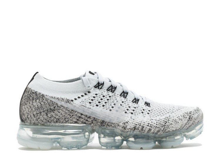Cheap Nikelab Air Vapormax Flyknit MenS Running Shoe Oreo 899473-002 Pale Grey Sail Black Pure Platinum On VaporMaxRunning
