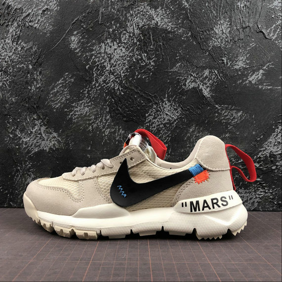 OFF-White X Boys Nike Craft Mars Yard TS NASA 2.0 Beige Red Rouge AA2261-100 On VaporMaxRunning