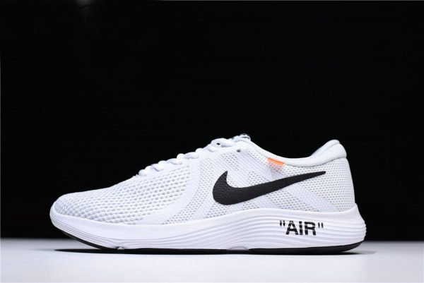 Cheap Off-White x Nike Revolution 4 White Running Shoes WMNS Size 908988-012 For Sale On VaporMaxRunning